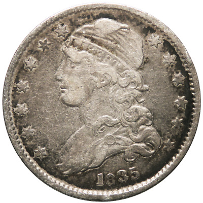 1835 25c Silver Capped Bust Quarter
