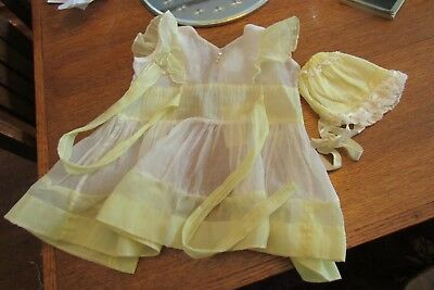 Vintage 1950's Yellow Party Sheer Baby Dress Jay Annette of Texas