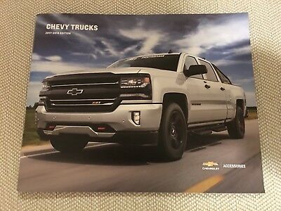 2017-2018 CHEVY TRUCKS ACCESSORIES 52-page Original Sales Brochure