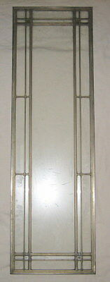 Antique Clear 12 X 39 Leaded Glass Panel Stained Glass Window Craftsman Tudor #3