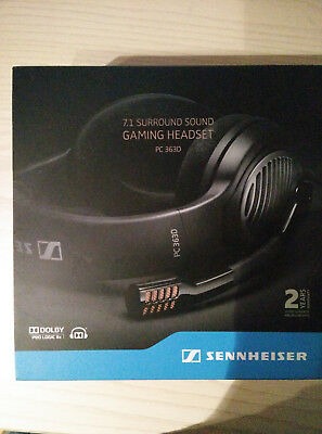 Sennheiser PC 363D USB Surround Sound Gaming Headset schwarz 7.1