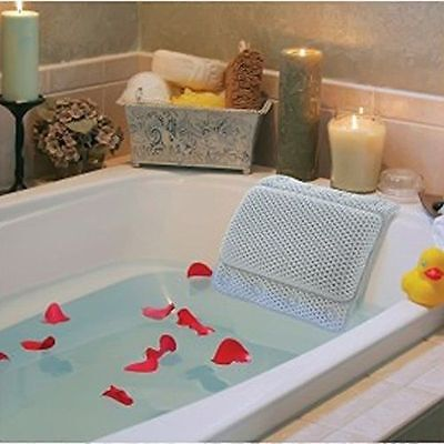 Non-Slip Bath Tub Pillow with Suction Cups relaxing hot cold warm spa shower NEW