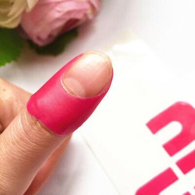 50pcs Tips Peel Off Nail Art Latex Tape Finger Skin Protector Polish Sticker lot