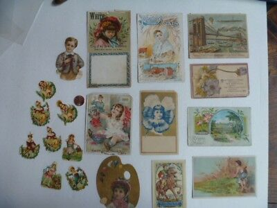 victorian trade cards lot