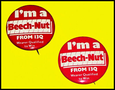 Vintage Pittsburgh Radio / Two 13Q Contest Pins / I'm a Beech-Nut From 13Q