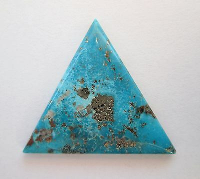 21.70 ct Stabilized Persian Turquoise Cabochon Gemstone with Pyrite, DH 114