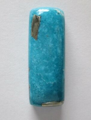 61.20 ct Stabilized Persian Turquoise Cabochon Gemstone with Pyrite, 1AH 017