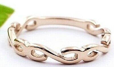 Rose Gold Plate Wave Boho Beach Midi Knuckle Ring Pinky Small Size 3 4 5 F H J