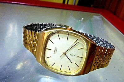 SEIKO 7830-5020  5 jewel  Quartz  Mens 32mm  SS Strap 1979 Vintage All-Original