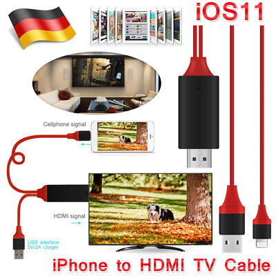 HDMI Kabel 2M MHL zu Kabel 1080P HDTV Lightning USB für iPhone iPad Air 2 Pro