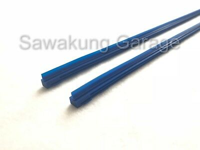 2Pcs [8MM] Superior Quality Silicone Wiper Blade Refill Blue Color