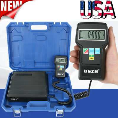 Digital Refrigerant Electronic Charging Scale 220 lbs for HVAC with  Blue Case