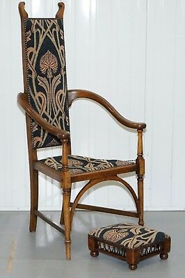 Circa 1820 Henry Holmes Stamped George Iii Armchair & Stool Hh Gillows Worker