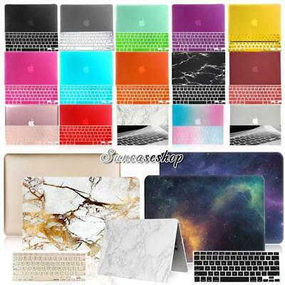 """Rubberized HARD Case Cover With Keyboard Skin For MacBook Pro 13.3"""" 15.4"""" inch"""
