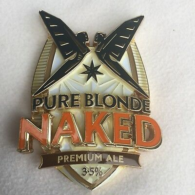 PURE BLONDE NAKED METAL BADGE in Great Condition