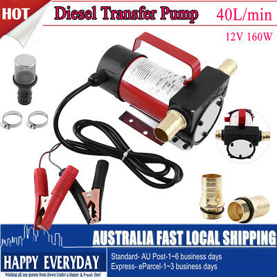 40 L/min Self Priming Transfer Fuel Diesel Pump Filter Kit 5m Suction Distance