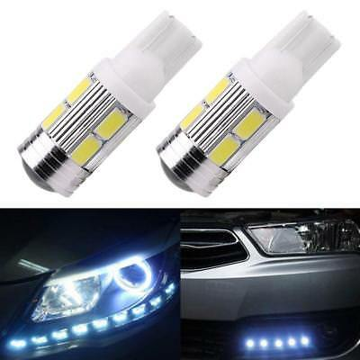 Unique 2Pcs Car LED Light T10 501 194 W5W 10 SMD 5630 Canbus Wedge Lamp Bulb H-Q