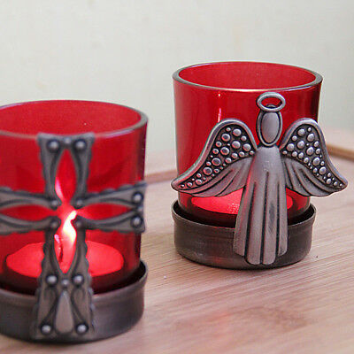 Cross Angel Unique Glass Candle Holders Wedding Decoration Perfect For Gifts