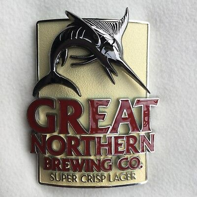 GREAT NORTHERN BREWING CO METAL BADGE Tap Top Brand New!!!