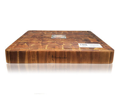 Large Acacia Wood Serving and Chopping Board Rectangular End Grain Size