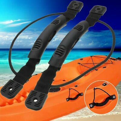 2Pcs DIY Kayak Canoe Boat Side Mount Carry Handle Bungee Cord Accessories PB