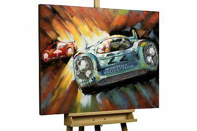 Relieve de pared metal 3D 'Racing Duel' | Escultura mural 100x75x5,5cm