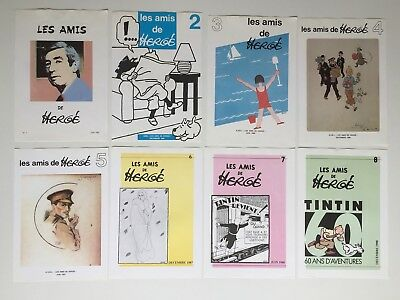 Herge / Tintin - 8 Couvertures Les Amis D Herge 1 A 8