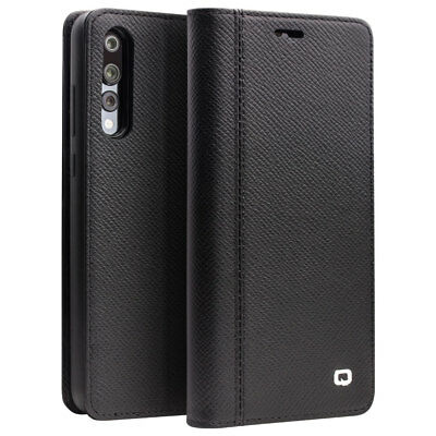 QIALINO Genuine Leather + TPU Detachable Wallet Phone Case for Huawei P20 Pro