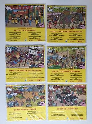 Tintin 6 Decalcomanies Willeb Kuifje / Herge / Lombard 1978 / Sous Film