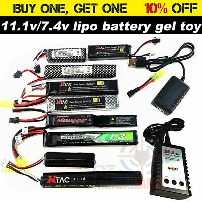 11.1v / 7.4v battery B3 Balance charger Gel Ball Blaster Jinming M4A1 Upgrade OZ