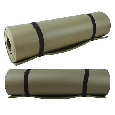 Highlander NATO Camping Mat EVA Foam Roll Sleeping Mat 4 Season Black Olive