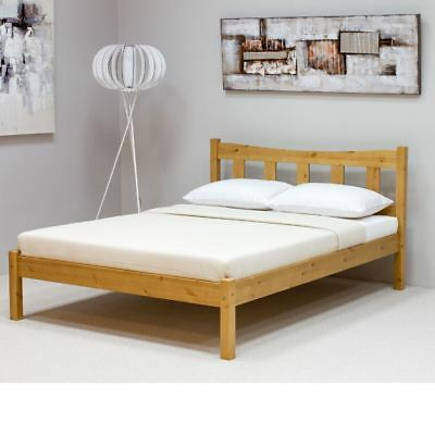 Poppy Pine Wood Shaker Bed 4ft6 Double with 4 Mattress Options