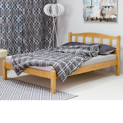 Amberley Wood Bed Pine and White Single or Double Sizes with 4 Mattress Options