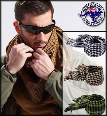SHEMAGH TACTICAL SCARF Mens Womens Survival Airsoft Gear Wrap Afghan Keffiyeh