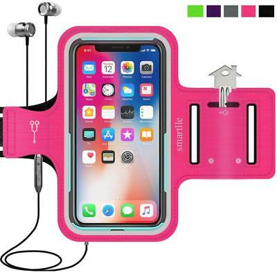 Pink Workout Sports Cell Phone Armband For iPhone X 8 7 6 6S Samsung Galaxy S8 S