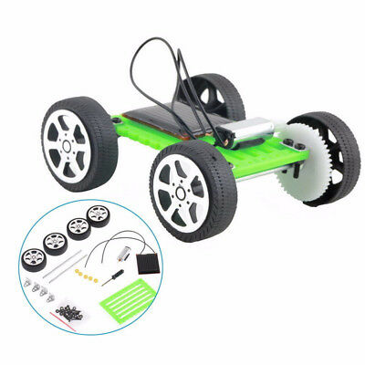1 Set Mini Solar Powered Toy DIY Car Kit Children Educational Gadget Hobby Funny