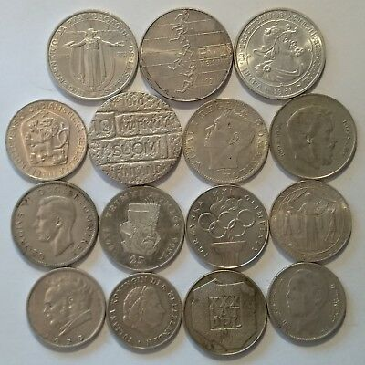 Silver Lot of 15 Coins 220 grams !!