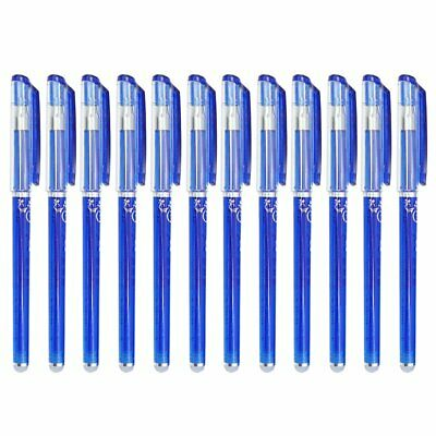 12Pcs/Pack .5mm Gel Ink Pen Friction Erasable Magic Blue Student Stationery PB