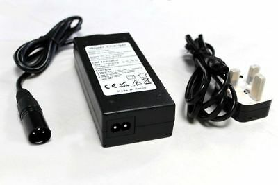 24v 2A Mobility Scooter Wheelchair Battery 3-Pin XLR Power Supply/UK Charger