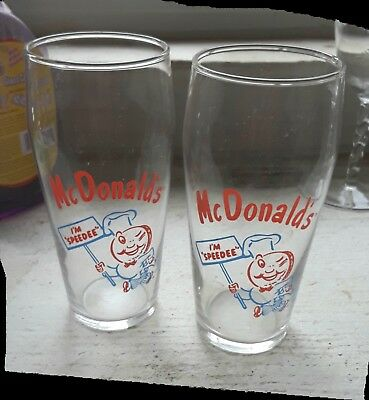 Vintage Collectible McDonald's Drinking Glasses