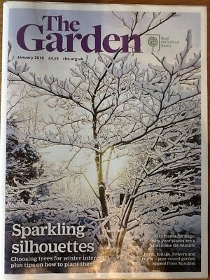 RHS Royal Horticultural Society The Garden Magazine January 2018