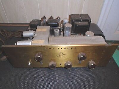 Vintage The Fisher X-101 Stereo Master Control Tube Amp Amplifier Tubes Light!