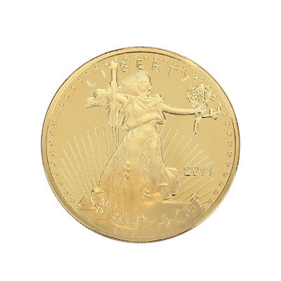 Gold Plated Liberty Goddess Collectors Challenge Coin Military Coins Token