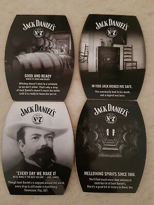 Jack Daniels coaster set (4) in wooden box. New and sealed. Collectable. Rare.