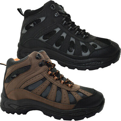 Mens Hiking Boots New Hi Tops Trail Winter Trekking Ankle Lace Up Trainers Shoes