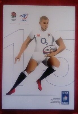 ENGLAND v FRANCE 04/02/2017 RBS 6 Nations Rugby Union programme