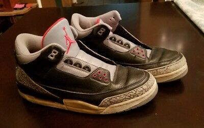 e6b305b010a200 2001 release Nike Air Jordan 3 retro black cement 136064 001 Men s 10 BC3