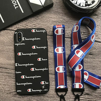 Phone Case Champion Cover Lanyard Fits iPhone 6 6s 7 6 Plus 7 Plus