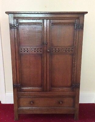 An Old Traditional Reproduction Antique Cabinet in Solid Oak