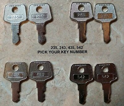 Pair of APG 235, 243, 435, 542 Keys for Vasario Cash Drawers - Register Till Key
